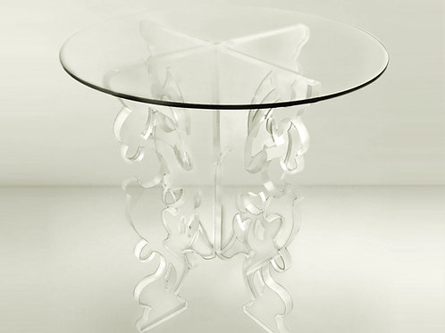Baroque Lucite Base Dining Table