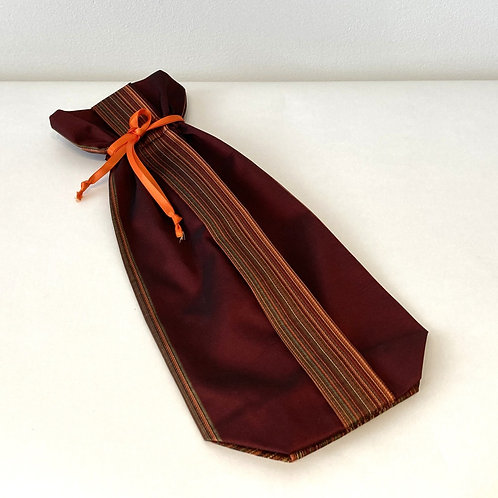 Wine Red Vertical Stripes Bag