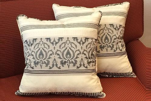 Pair of Geno Gray Pattern Pillows