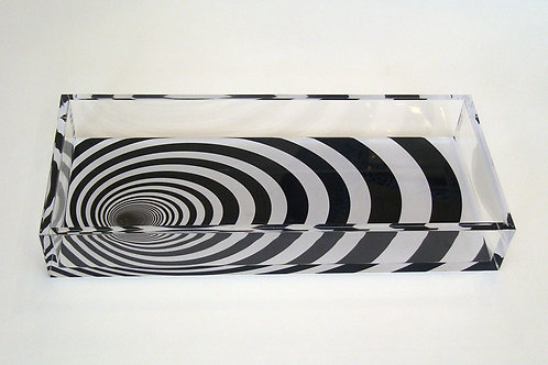 Lucite Time Tunnel Pattern Tray