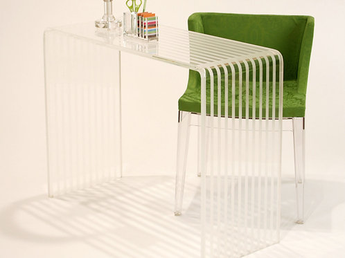 Striped Lucite Consol Table