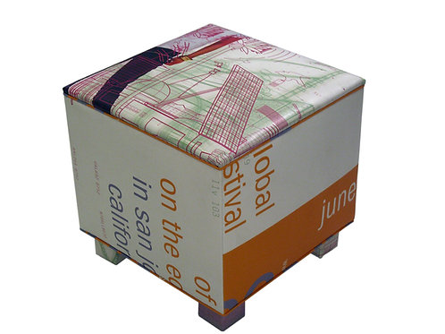 Cubed Ottoman, Custom Pattern Available