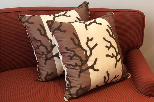 Pair of Brown Branches Pillows
