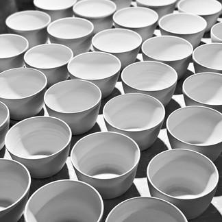 Bisque fired bowls