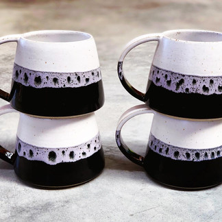 Leopard glazed cups