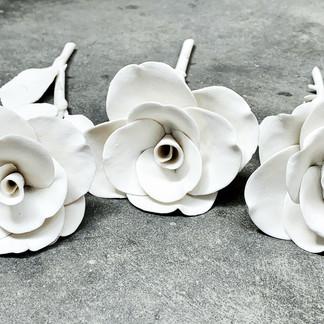 Porcelain hand made roses