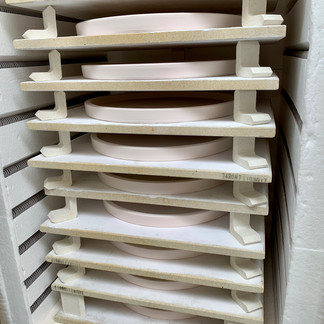 Restaurant order at the end of a bisque firing