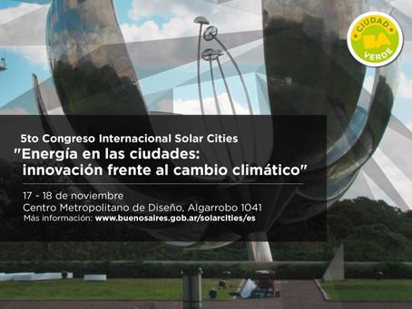 5º Congreso Internacional Solar Cities (17 y 18 de noviembre)