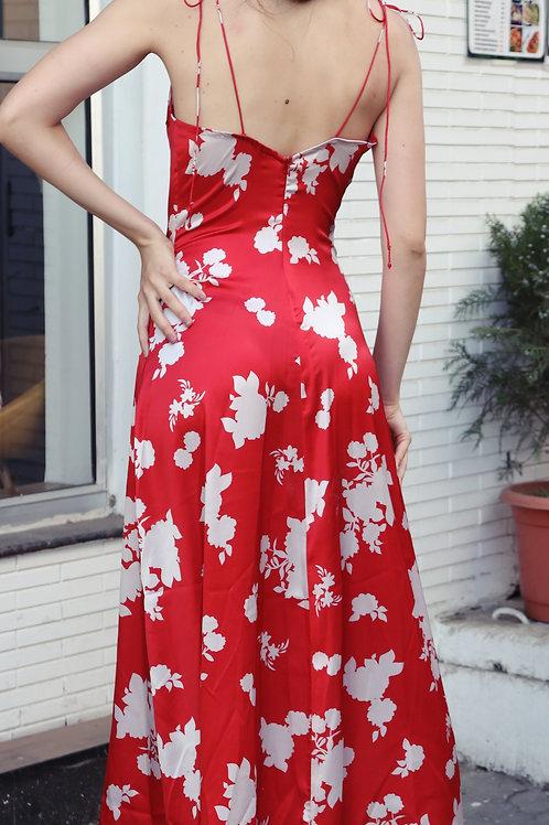 Moods of love satin slit dress