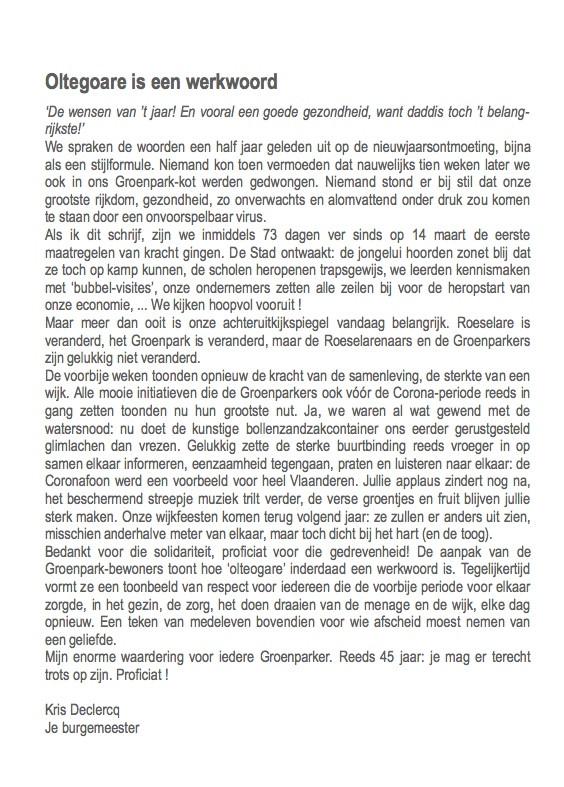 GEDACHTENBUNDEL - GROENPARK-20  /  3