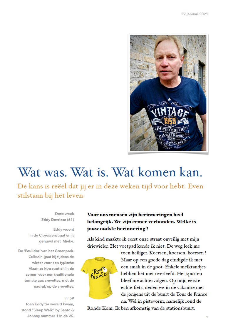 Wat was. Wat is. Wat komen kan. 29/01 - Eddy Devriese 1