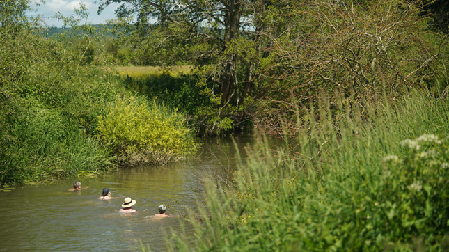 Take a dip in the river on retreats at Growan...