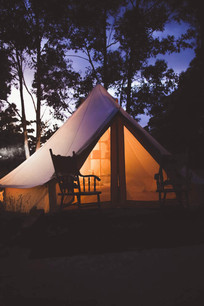 Snuggle up in the bell tent...