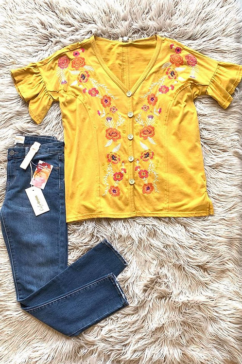 """""""SUNNY FIELD""""UMGEE FLORAL BLOUSE"""