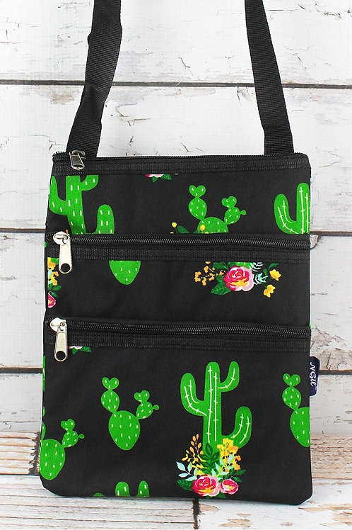"""CACTUS CRAZY"" PRINTED POCKET MESSENGER BAG"