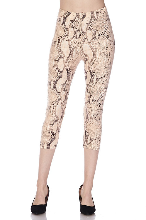 """IN A TRANCE"" PRINTED SNAKE PRINT LEGGINGS"