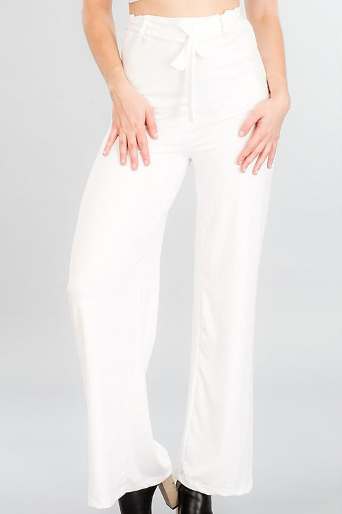 """FOR THE LOVE OF WHITE"" SOFT PALAZZO PANTS"