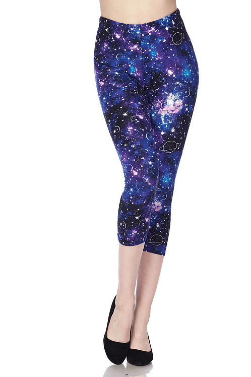 """""""OUT OF THIS WORLD"""" PRINTED GALACTIC LEGGINGS"""