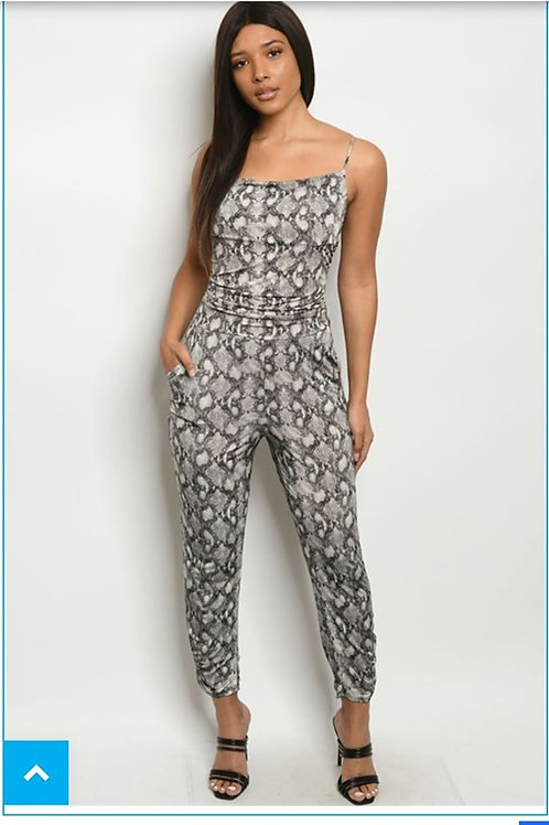 """ANACONDA QUEEN"" SNAKESKIN JUMPSUIT"