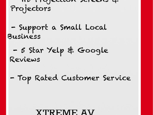 Top Reasons to Rent from XTREME AV this Summer!