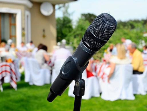 Weddings are back Take 10% Off all Wedding AV