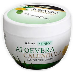 Bakson's Aloevera Calendula Cream (125 gm Cream in jar) Pack of 2