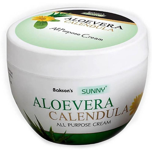 Bakson's Aloevera Calendula Cream (125 gm Cream in jar) Pack of 3