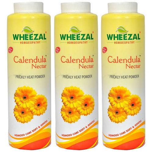 Wheezal Calendula Nectar Prickly Heat Powder (100 gm)Pack of 3
