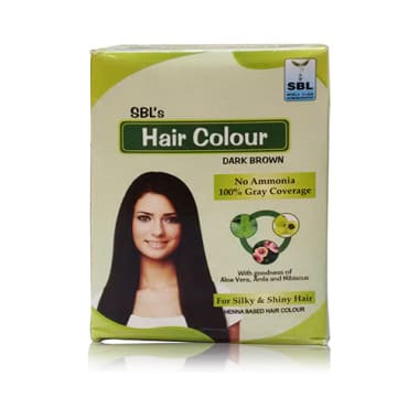 SBL HAIR COLOUR DARK BROWN PACK OF 12