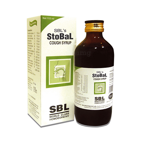 SBL Stobal Cough Syrup (115 ml Syrup in bottle) Pack of 4