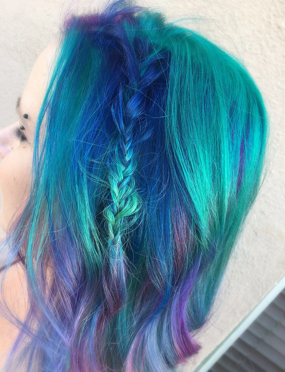 mermaid haircolor, vivid haircolor