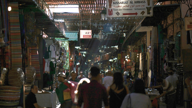 ...the souks of Marrakesh