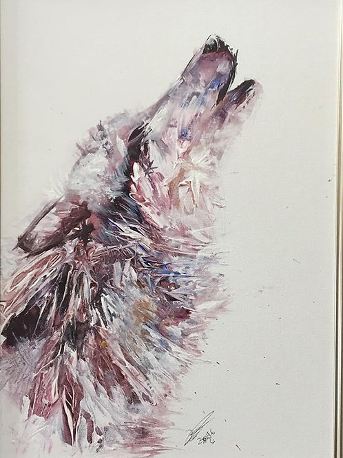 Howl  Framed 17 x 22inches