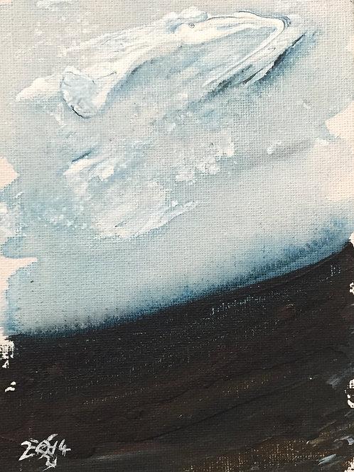 """Watery evening 6x4"""" unframed"""