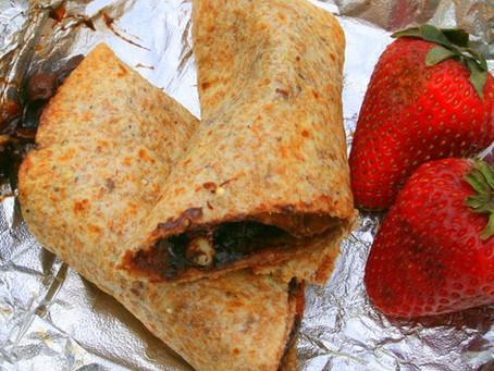 Tortilla Dessert Roll Ups for camping
