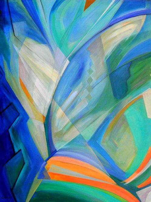 "ARCHITECTURE, acrylic on canvas. 60 x 48 ix 2"" or 152 x 122 x 5 cm"