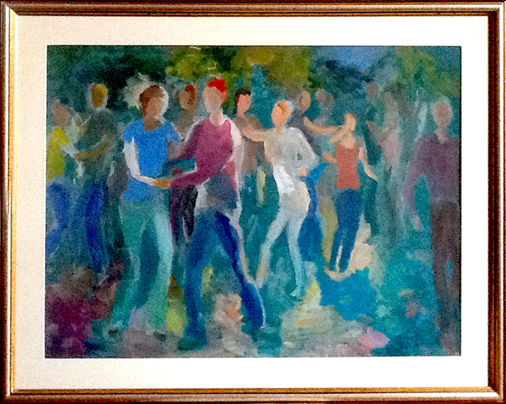 AMM35-Dancers-in-Greens-22x30-Framed