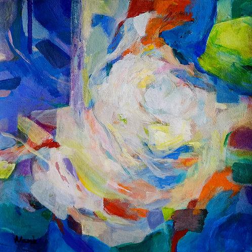 Le Nuages, acrylic on BFK paper, 25 x 25 cm