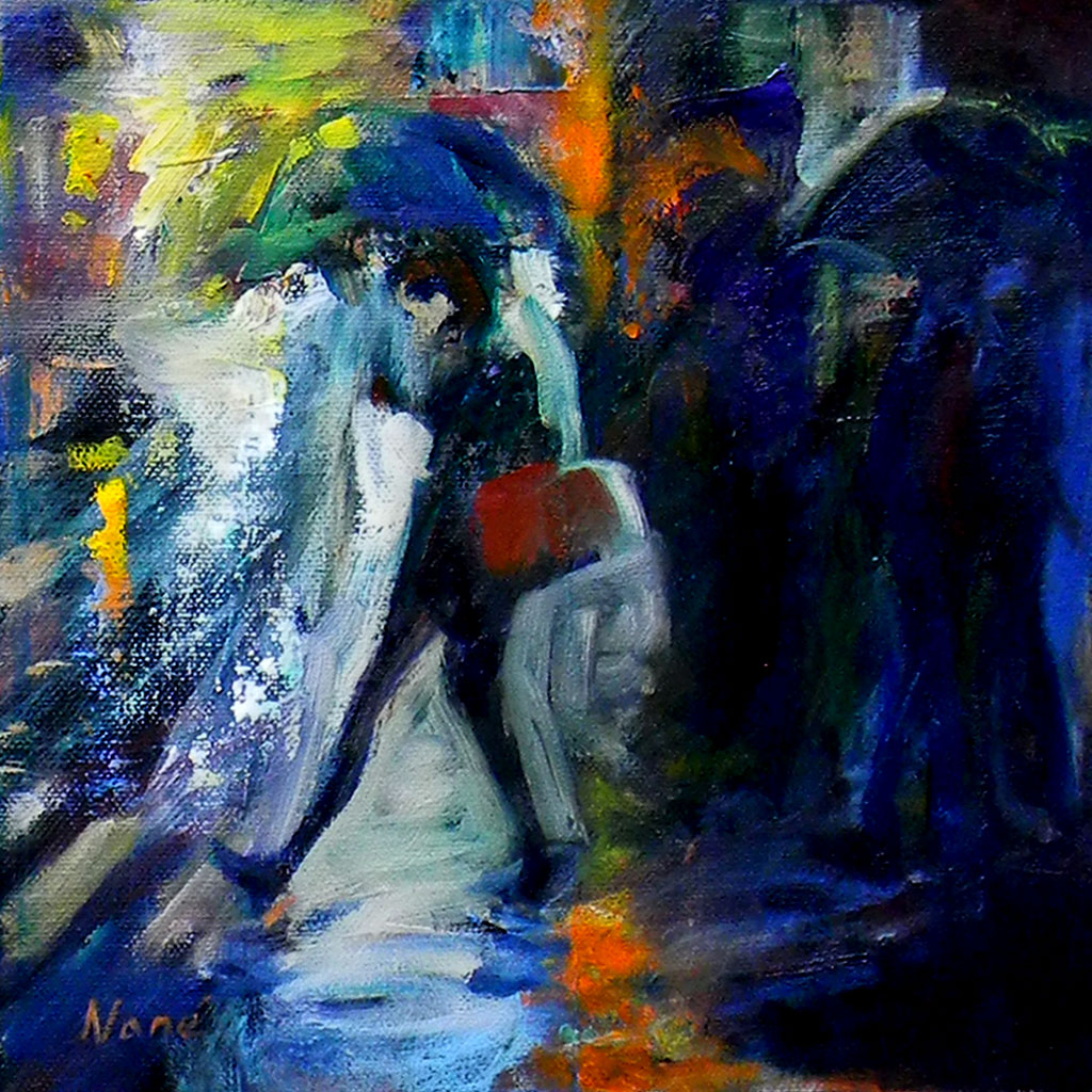 Walking in rain