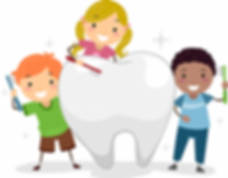 Kids brushing tooth