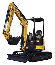 Excavator for digging trenches and pits