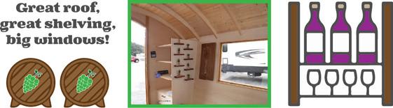 Great roof, great shelving, big windows!
