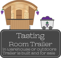 Tasting Room Trailer in warehouse or outoors.  Trailer is built and for sale