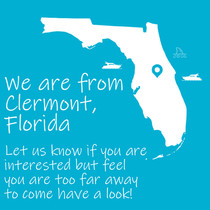 We are from Clermont Florida Let us know if you are interested but feel you are too far away to come have a look!