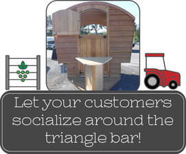Let your customers socialize around the triangle bar!