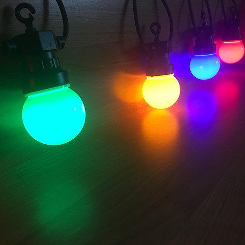 Ретро-гирлянда разноцветная с матовыми лампочками