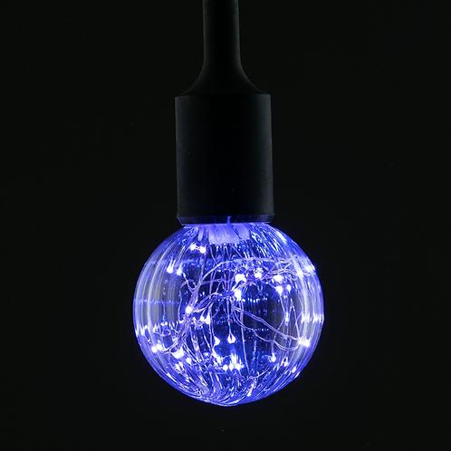 Лампочка со светящейся нитью синяя