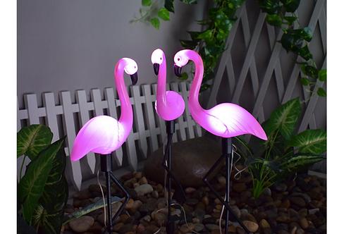 """Садовый светильник """"Фламинго"""" на солнечной батарее"""