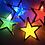 гирлянда звезды разноцветные