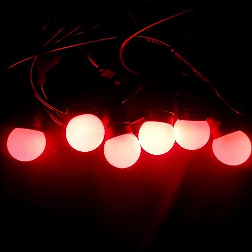 Ретро-гирлянда с красными лампочками